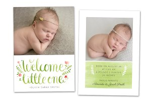Birth Announcement Template CB028