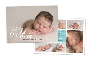 Birth Announcement Template CB034