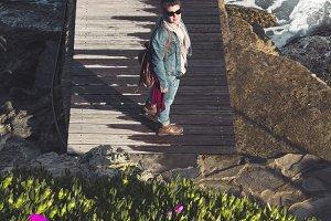 Woman in the seashore