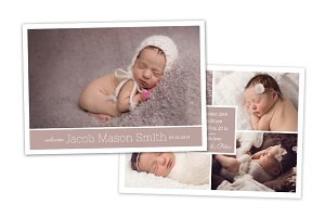 Birth Announcement Template CB035