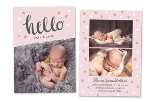 Birth Announcement Template CB040