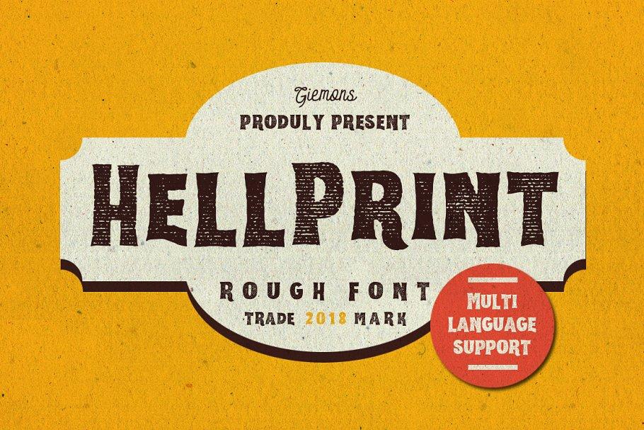 Hellprint Typeface ~ Display Fonts ~ Creative Market