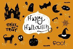 Halloween symbols. Set