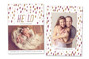 Birth Announcement Template CB043