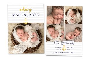 Birth Announcement Template CB044
