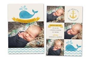 Birth Announcement Template CB045