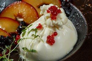 Burrata cheese with gazpacho sauce a