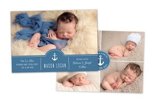Birth Announcement Template CB048