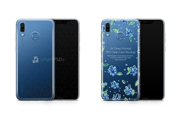 Honor Play UV TPU Clear Case Design