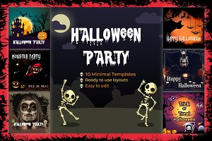 Halloween Party Instagram Banners
