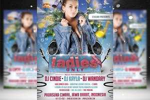 Ladies Only Flyer Template