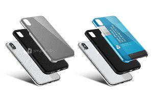 iPhone X 3d Dual Clear TPU Case PSD