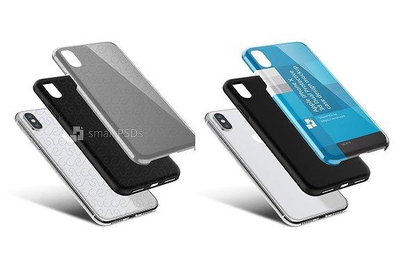 iPhone X 3d Dual Clear TPU Case PSD