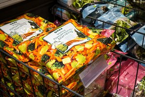 Frozen mix of vegetables in a grocer