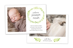 Birth Announcement Template CB055