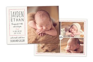 Birth Announcement Template CB057