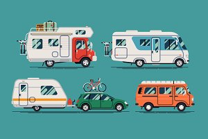 Camper Trailers and Travel Cars