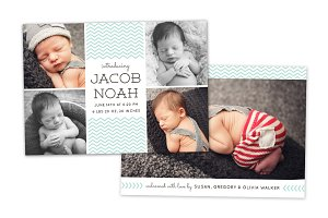 Birth Announcement Template CB063