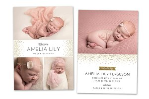 Birth Announcement Template CB064