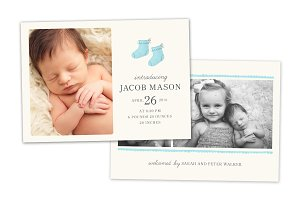 Birth Announcement Template CB066