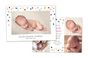 Birth Announcement Template CB067