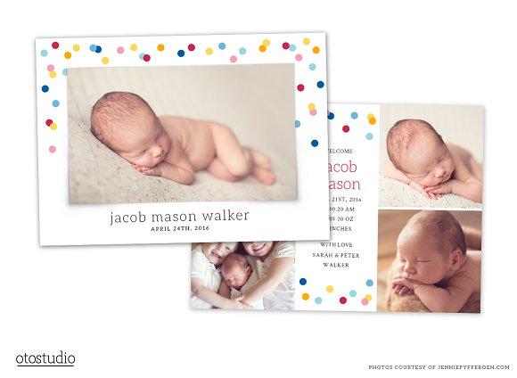 Birth Announcement Template CB067
