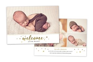 Birth Announcement Template CB068