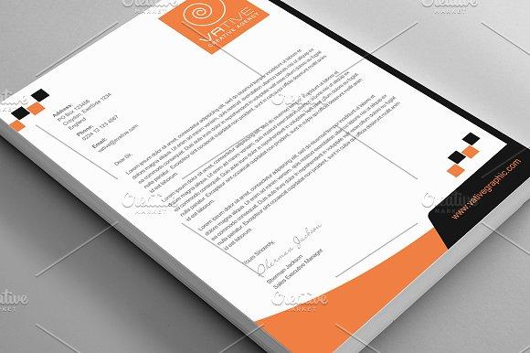 The Creative Letterhead Bundle Stationery Templates Creative – Corporate Letterhead
