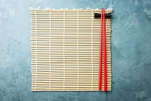 Japan wooden napkin with chopsticks