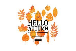 Hello Autumn! Sale banner