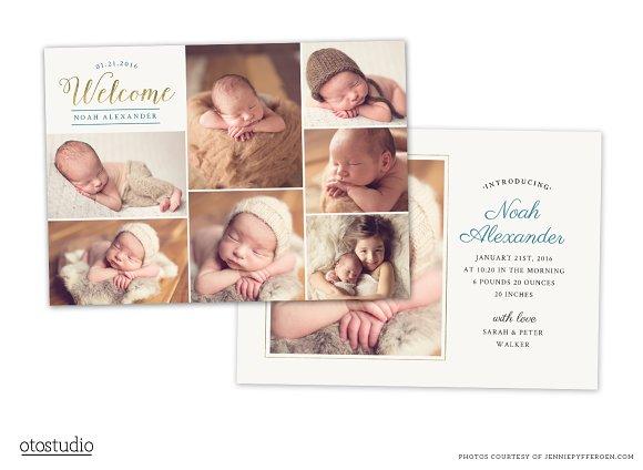 Birth Announcement Template CB069