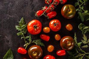 Fresh, ripe tomatoes