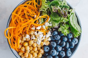 Buddha bowl salad with fresh vegetab