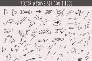Set of 100 arrows