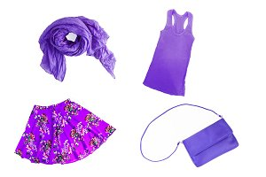 collage of fashionable lilac-lilac-v