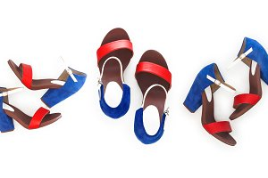Fashion women's sandals with heels,