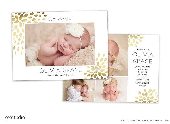 Birth Announcement Template CB071