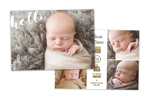 Birth Announcement Template CB072