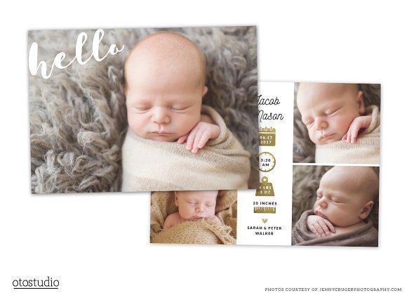 Birth Announcement Template CB072