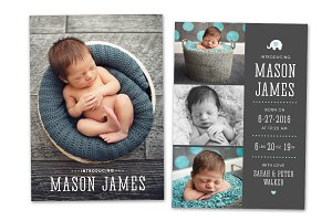 Birth Announcement Template CB074