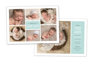 Birth Announcement Template CB075