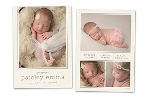 Birth Announcement Template CB076