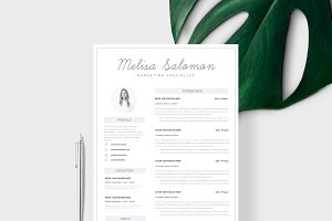 "Resume Template 1 page | ""Melbourne"""