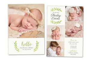 Birth Announcement Template CB080