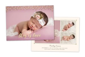 Birth Announcement Template CB082