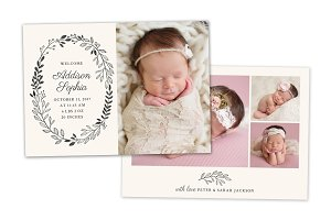 Birth Announcement Template CB084