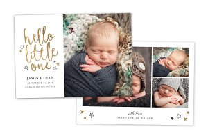 Birth Announcement Template CB085