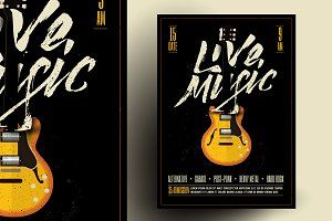 Live Rock Music Poster