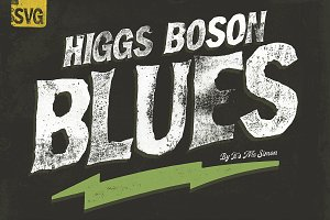 Higgs Boson Blues wood type font