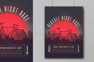 Bicycle Race Contest Poster